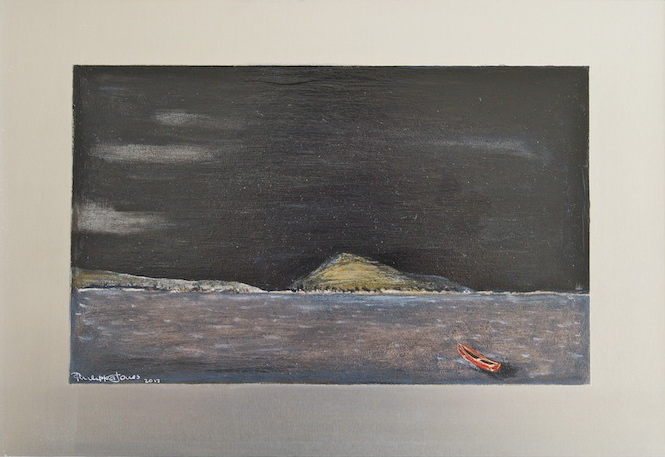 ISLAND JOURNEY Oils on aluminium 13cm x 22cm