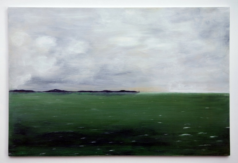 ON THE HORIZON #1 Acrylic on board 54cm x 44cm