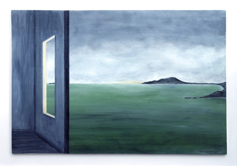 ON THE HORIZON #2 Acrylic on board 54cm x 44cm
